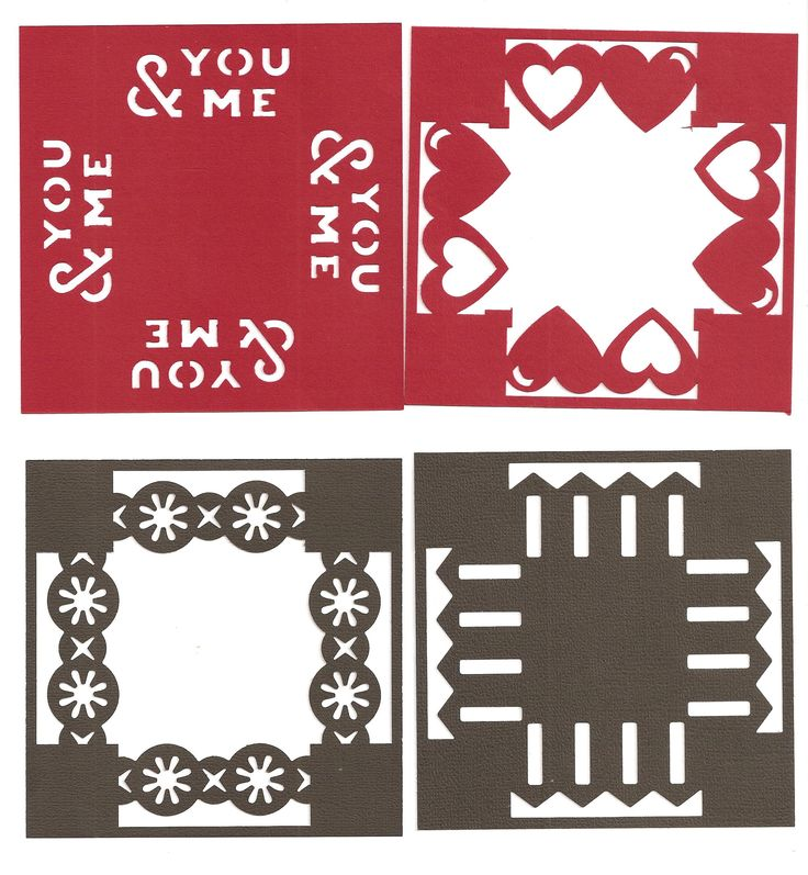 "border maker 4"" squares - use for layouts and cards"