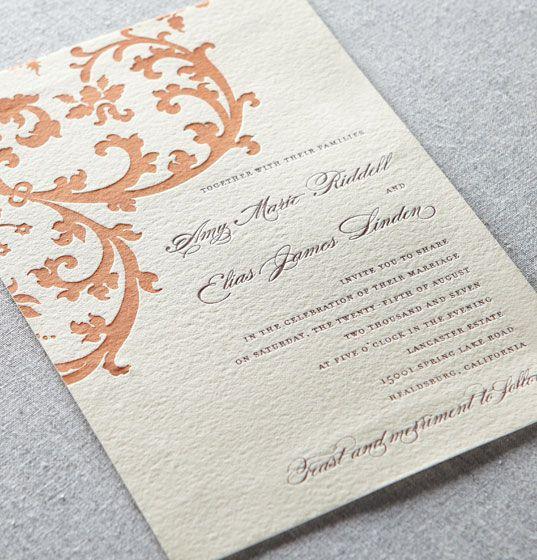 104 best Wedding Invitations images on Pinterest Wedding