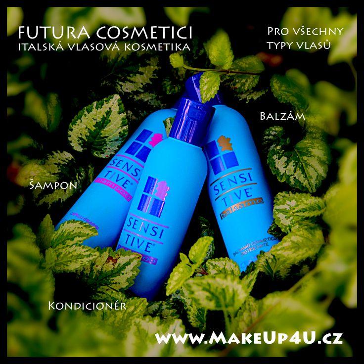 Italská vlasová kosmetika FUTURA COSMETICI SENSITIV #shampoo #cosmetic #hair #sensitiv