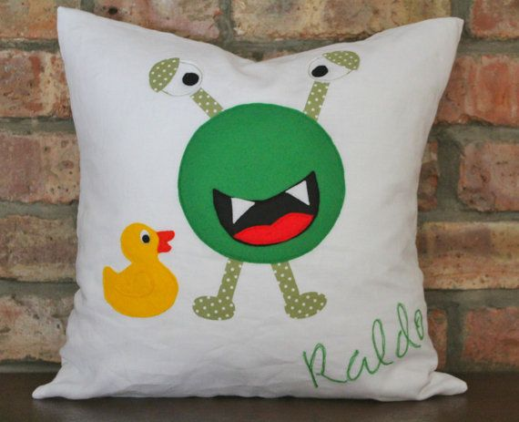 SALE - RALDO - Little Friendly Monster Kids Novelty Cushion