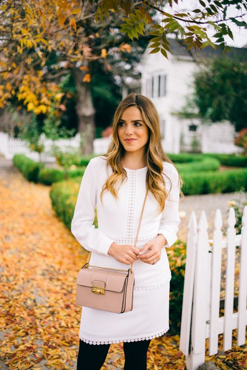 Gal Meets Glam Fall in Napa Valley wearing my Club Monaco white dress and Lanvin bag