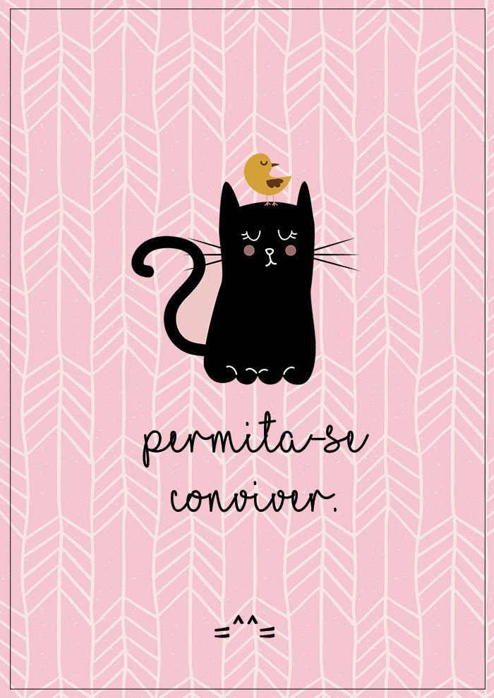 3 pôsteres grátis pra amar os gatos =^^= - Ricota Não Derrete