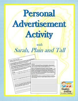 {FREE} This Personal Advertisement Activity was designed for use with Sarah, Plain and Tall, but because it is in Word format, can be easily altered to fit any book.