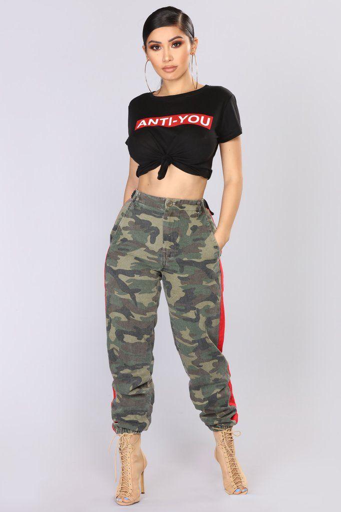 02b7754fa97 Count On Me Joggers - Camo/Red | Fashion Nova | Pants | Camo pants ...