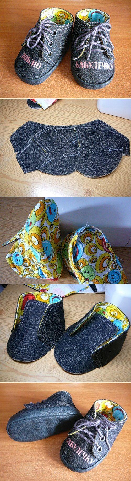 МК по пошиву детских ботиночек | На досуге -Игрушки | Постила