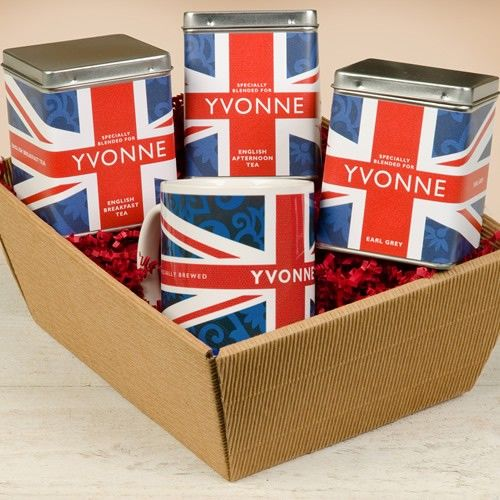 Personalised Tea Gift Set - Union Jack Design  from Personalised Gifts Shop - ONLY £29.99