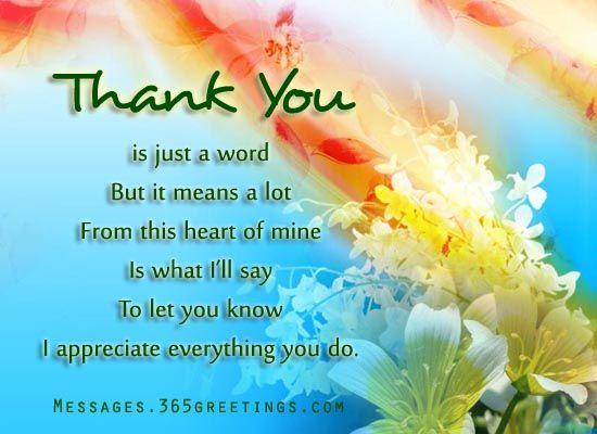Words of Thanks | Thanks words, Thanks messages, Greeting ...