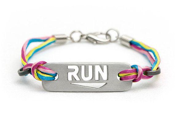 RUN - Running Bracelet: multi, black, pink, & orange on Etsy, $21.00