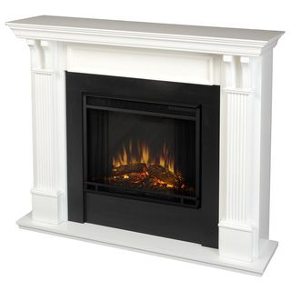 Real Flame Ashley White 48.03 In. L X 13.78 In. W X 41.25 In. H Electric  Fireplace By Real Flame  Small Electric Fireplaces