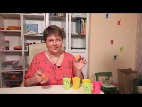 Játékos tanulás - most papírpoharakkal - YouTube