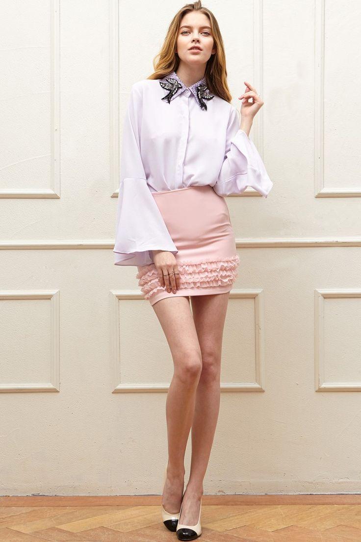 Lindsey Ruffle Mini Skirt