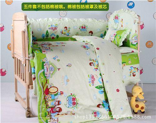 5Pcs baby crib bedding set kids bedding set 100x60cm newborn baby bed set crib bumper baby cot set baby bed bumper Free shipping
