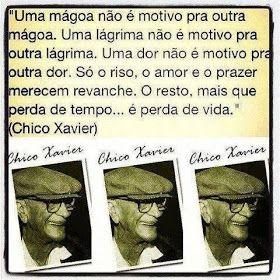"""Mensagens de Chico Xavier  Ainda sobre o livre arbítrio e o poder de escolha  do ser humano, ele escreveu, pelo espírito de Emmanuel:  """"Se..."""