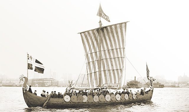 Picture of a Viking ship that sailed from Norway to Chicago in 1893