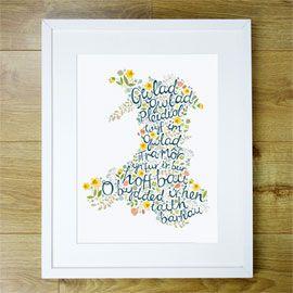 Welsh anthem print