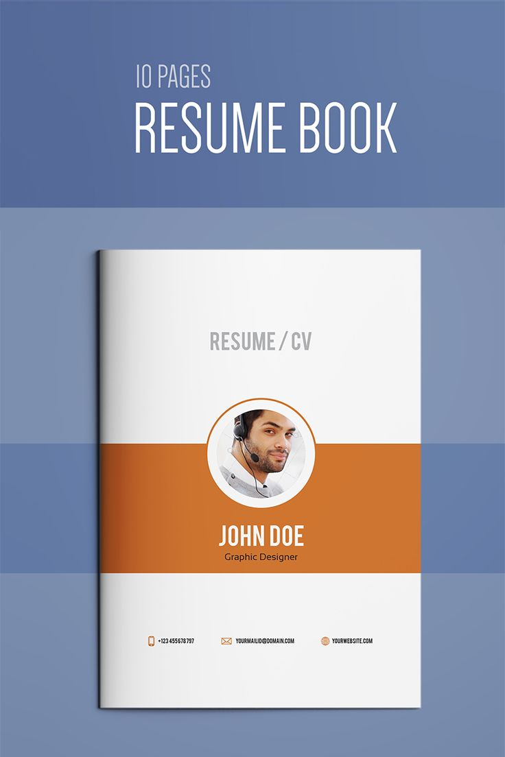 Resume Booklet Modern CV Professional and