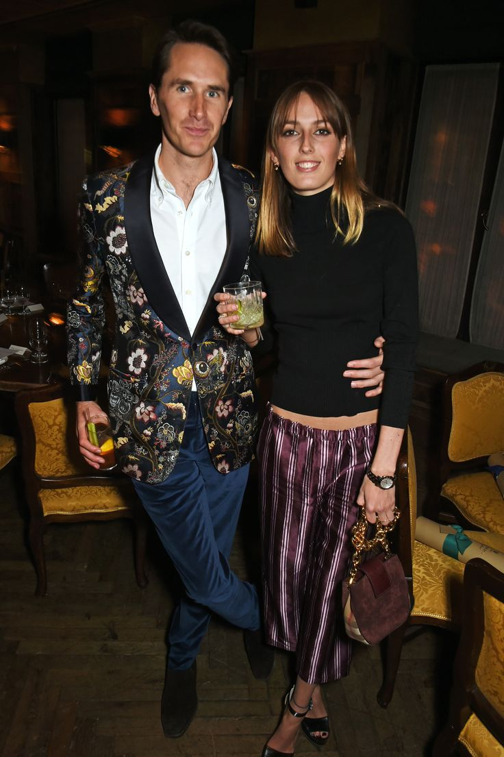 Otis Ferry and Alice Manners in pieces from the Burberry September collection for the Weinstein pre BAFTA dinner