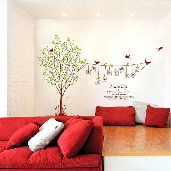 Photo Tree Wall Decal Vinyl Family Tree Wall Decal by Lovecase