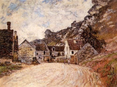 The Hamlet of Chantemesie at the Foot of the Rock - Claude Monet