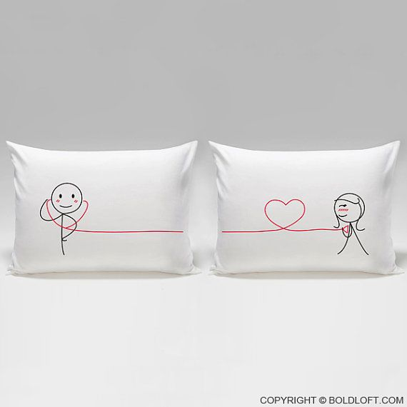My Heart Beats for You™ Couple PillowcasesHis and Hers by BoldLoft