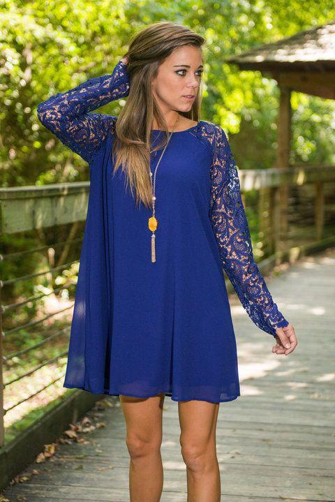Victoria Swing Dress, Royal Blue