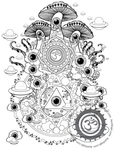 trippy coloring pages mushrooms health - photo#15