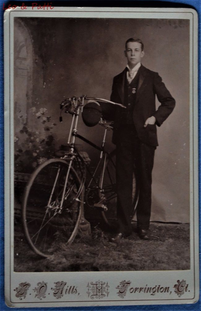 Cabinet Photo Man Full Size Bicycle By Hills Torrington Connecticut    eBay