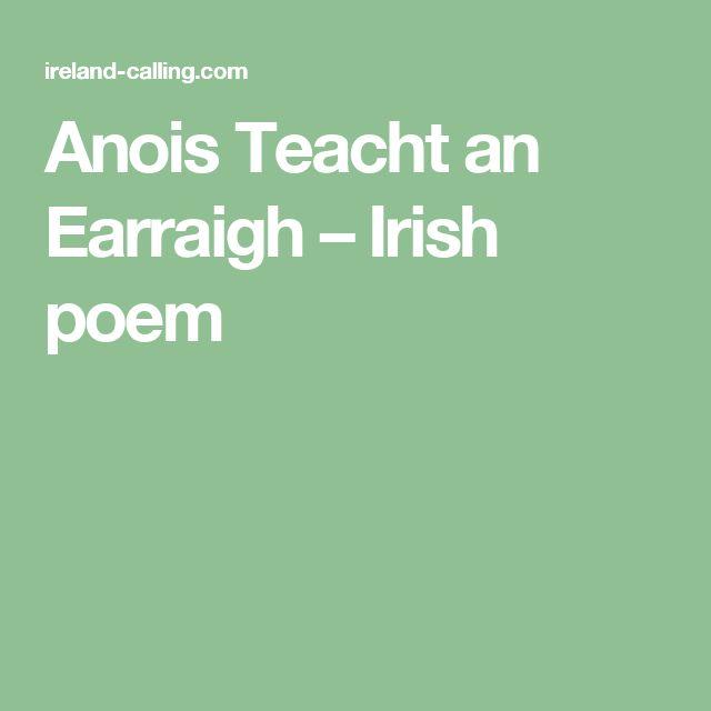 Anois Teacht an Earraigh – Irish poem