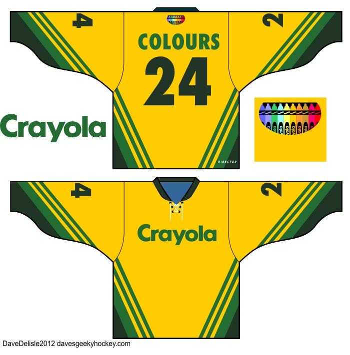 Crayola Hockey Jersey 24 Get It Cool Hockey
