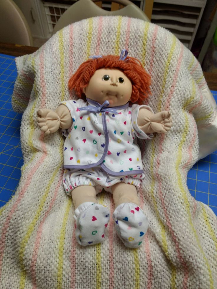 Handmade Cabbage Patch Small Baby Doll Red head CPP-3