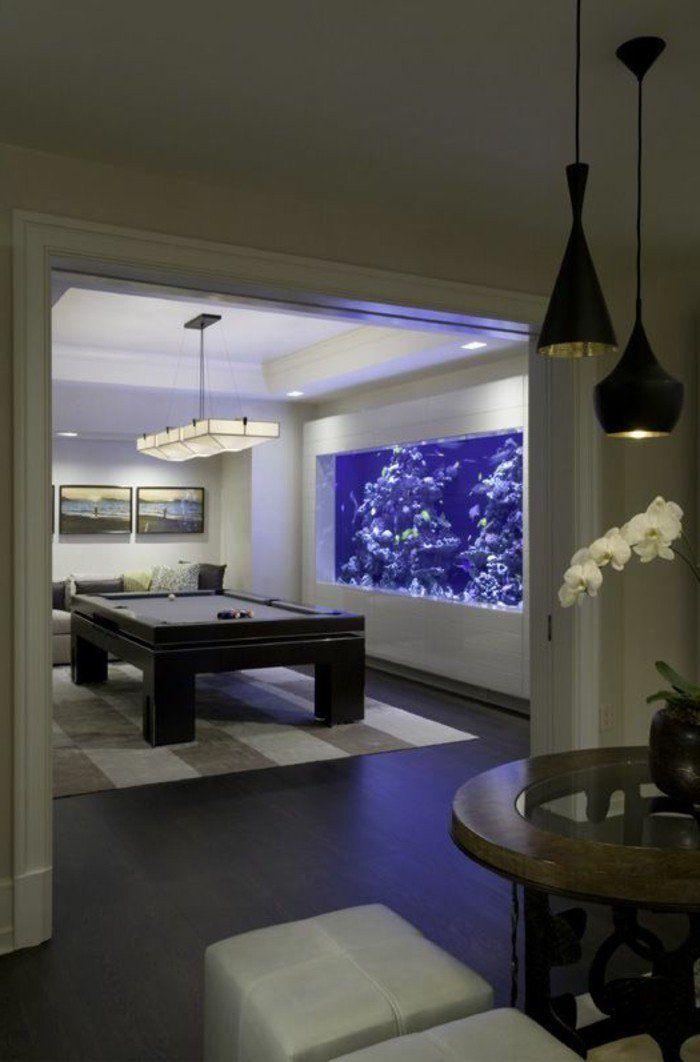 78 id es propos de aquarium mural sur pinterest aire for Aquarium interieur