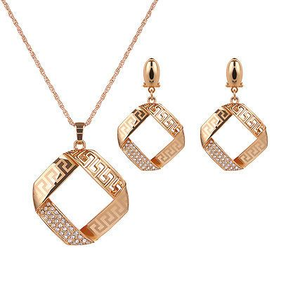 Hot Gold Plated Geometry Crystal Jewelry Sets Stud Earrings Necklace Pendant https://t.co/0kbXUXhFJ6 https://t.co/jvxyaGH5Ef