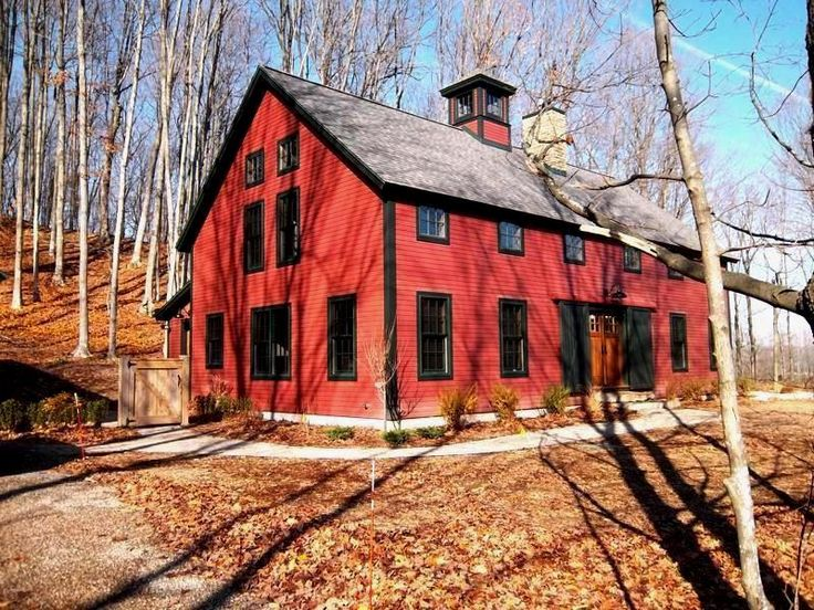A barn home in the upper regions of lake michigan part 2 for Maine post and beam kits