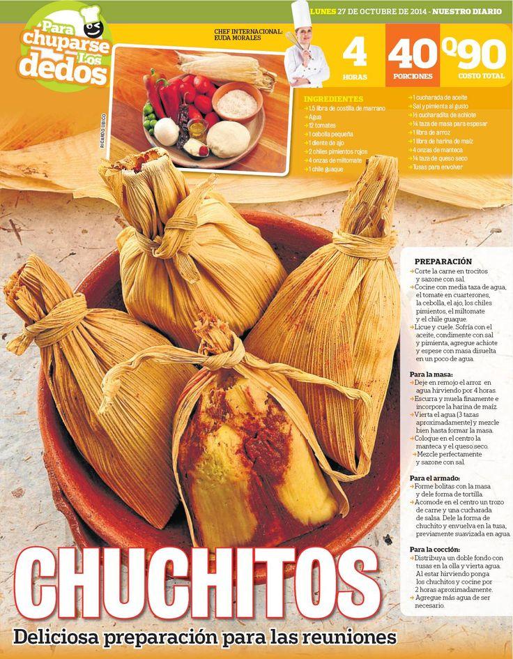 Chuchitos para la merienda una receta de Guatemala