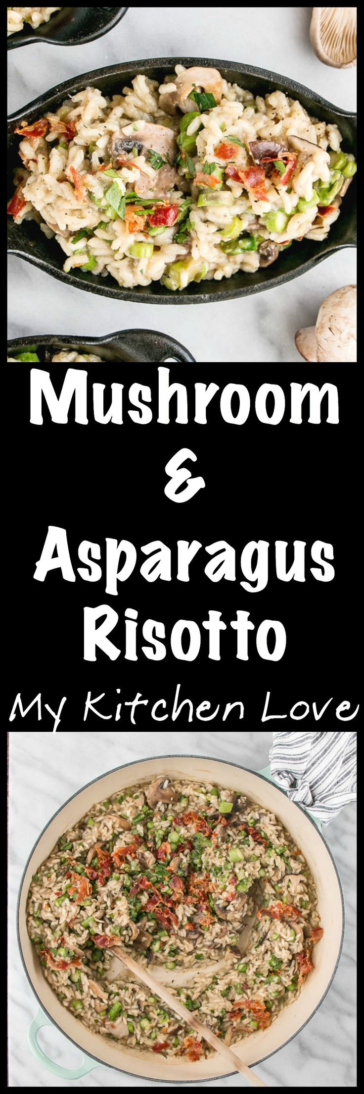 Mushroom and Asparagus Risotto   My Kitchen Love