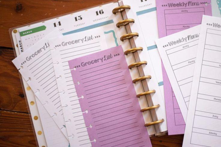 Happy Planner Freebie Grocery List Free Printable