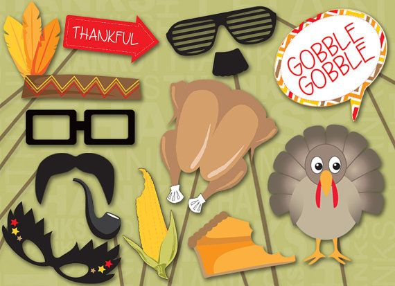 MEGA PACK Thanksgiving Photo booth Props by PanicPrintables