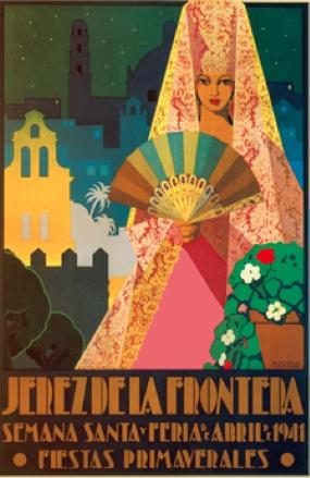 """""""Jerez de la Frontera""""  Semana Santa y Feria de Abril, 1941. Fiestas Primaverales.   (lbk)"""