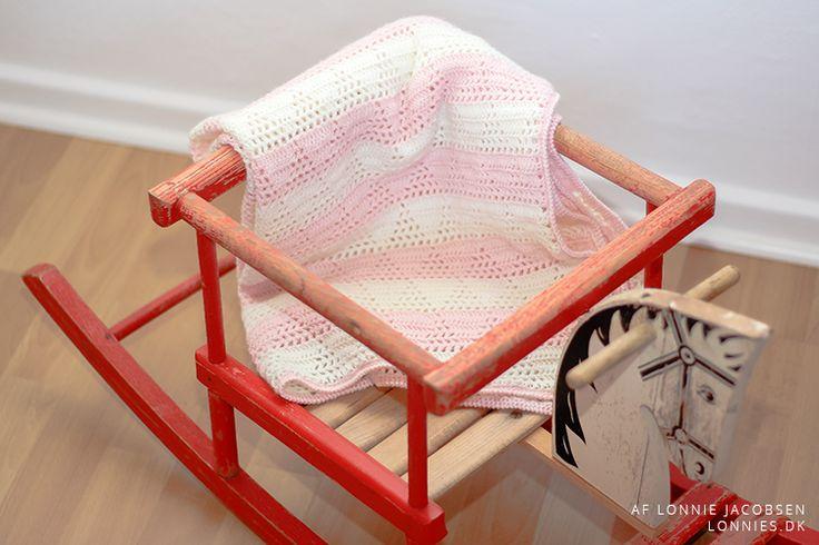 Hækleopskrift: Isbjerg baby tæppe hæklet