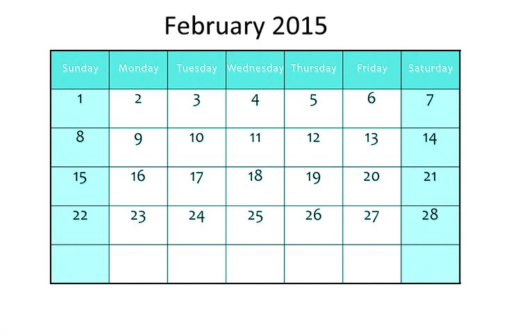 32 Best February 2015 Calendar Images On Pinterest Printable