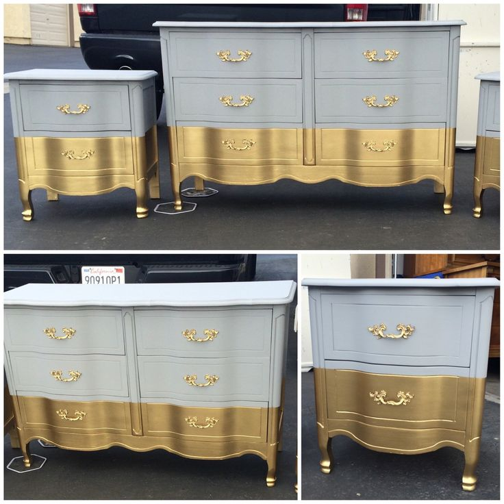 Six drawer French Provincial Dresser Nightstands