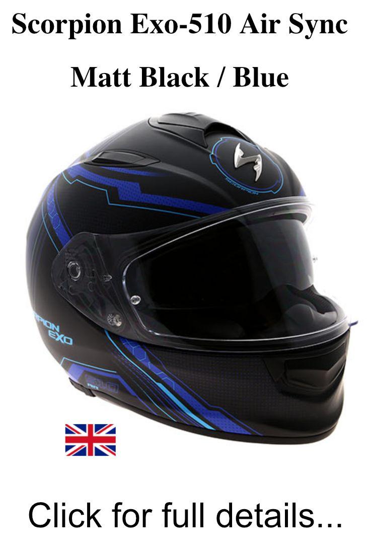 Scorpion Motorcycle helmets EXO 510 AIR SYNC Black Mattt Silver