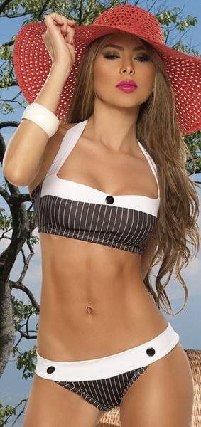 Striped Swimsuit, Bikini, Sexy Bikini-this looks like a Pimp suit so I love it!