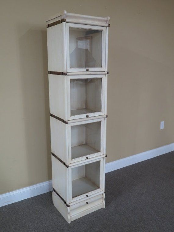 L44747e Globe Wernicke 4 Section White Stacking Narrow Bookcase In 2019 Our Casa Es Su Decor Furnishings Furniture Styles Vintage