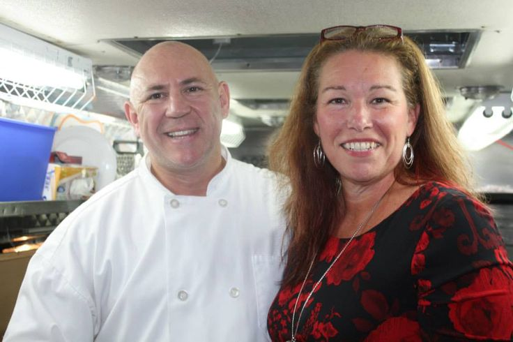 Chef Baron Klaus Erich von Hochgotz and TCWA Founder, Cathy Kuzel - the Original Connected Woman! Sept.30/14 Kitchen Party, #connectedwoman