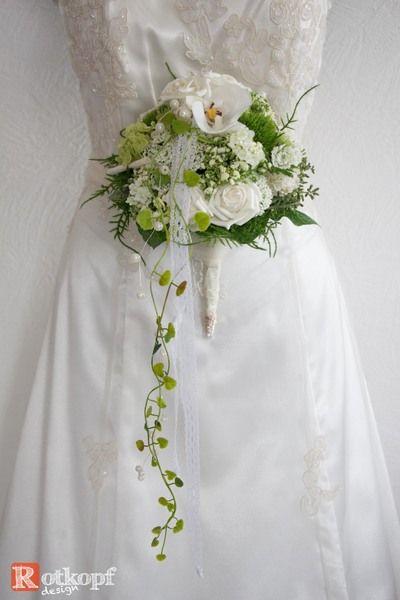 """Brautschmuck - Brautstrauß """" Perle """" - ein Designerstück von Rotkopf-design bei DaWanda"""