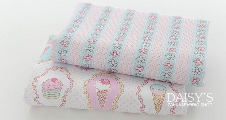 Diy мороженое торт печать хлопчатобумажные ткани саржевые белье одеяло наволочка ручной ткань j2 купить на AliExpress