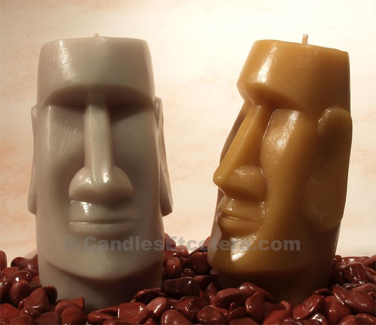 Novelty Candles, African Tiki,Easter Island Candle, Hobnail