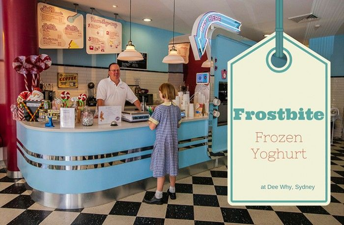 Love the retro decor!  Frostbite Frozen Yoghurt in Dee Why is a really cool Sydney spot for kids.