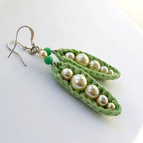 crochet earrings ༺✿ƬⱤღ✿༻: